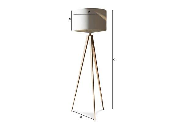 Dimensiones del producto Lámpara trípode  Kavinsky