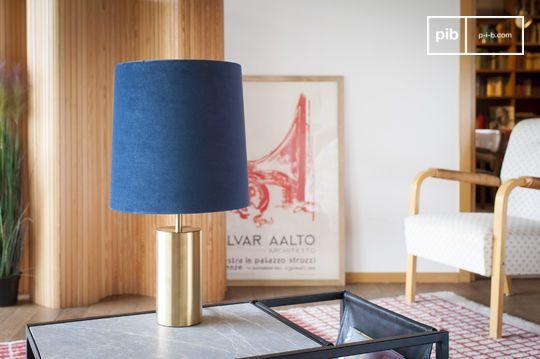 Lámpara y pantalla de terciopelo Sarhita