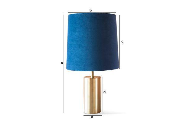 Dimensiones del producto Lámpara y pantalla de terciopelo Sarhita