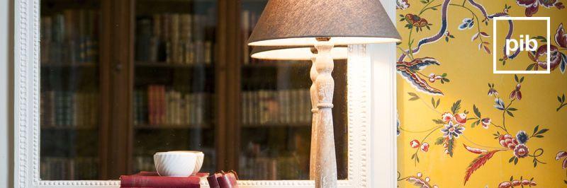 Lámparas de mesa antiguas shabby chic pronto de nuevo en la colección