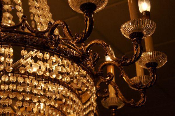 lámparas estilo shabby chic en casa
