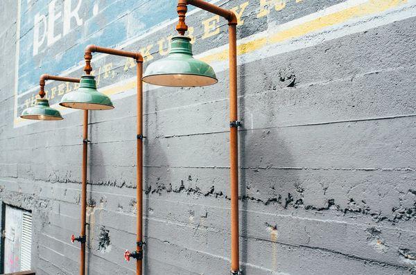 lámparas industriales verdes