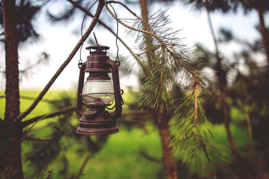 linterna para el jardin