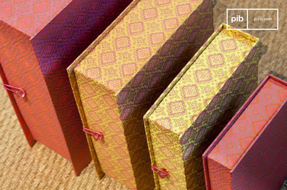Cajas de color con encanto vintage
