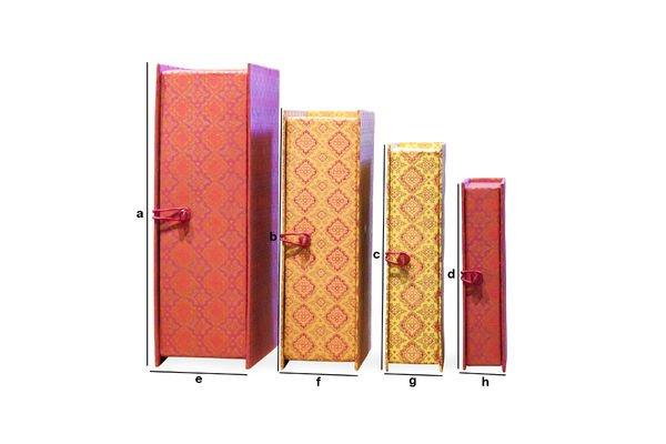 Dimensiones del producto Las cajas de Dr Vincent