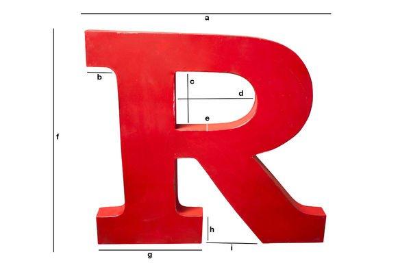 Dimensiones del producto Letra decorativa R
