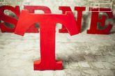Letra decorativa T