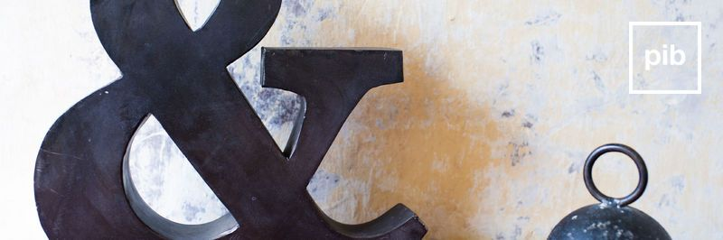 Letras decorativas de madera shabby chic