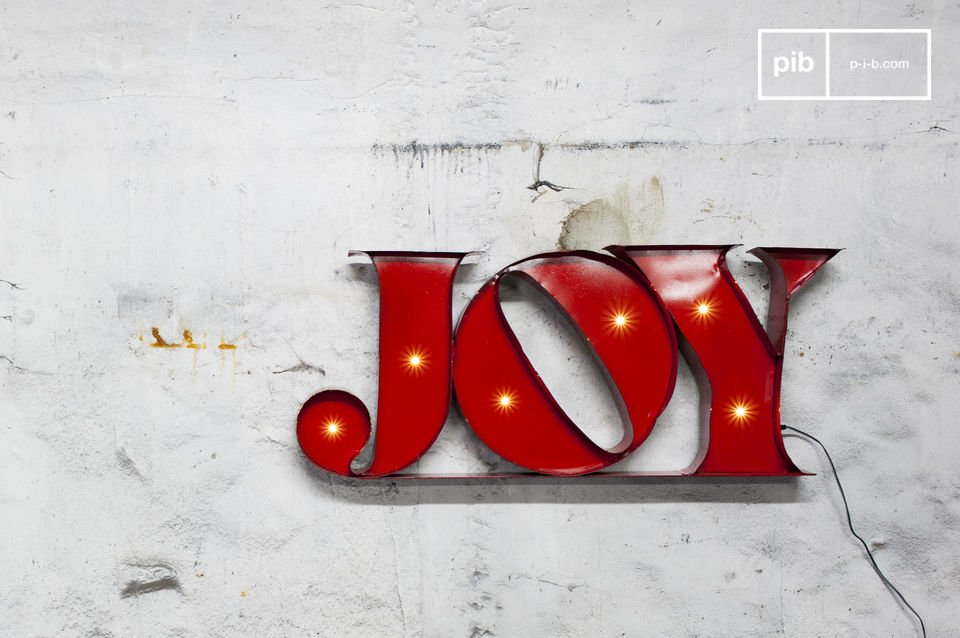 Letrero neón Joy