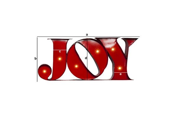 Dimensiones del producto Letrero neón Joy