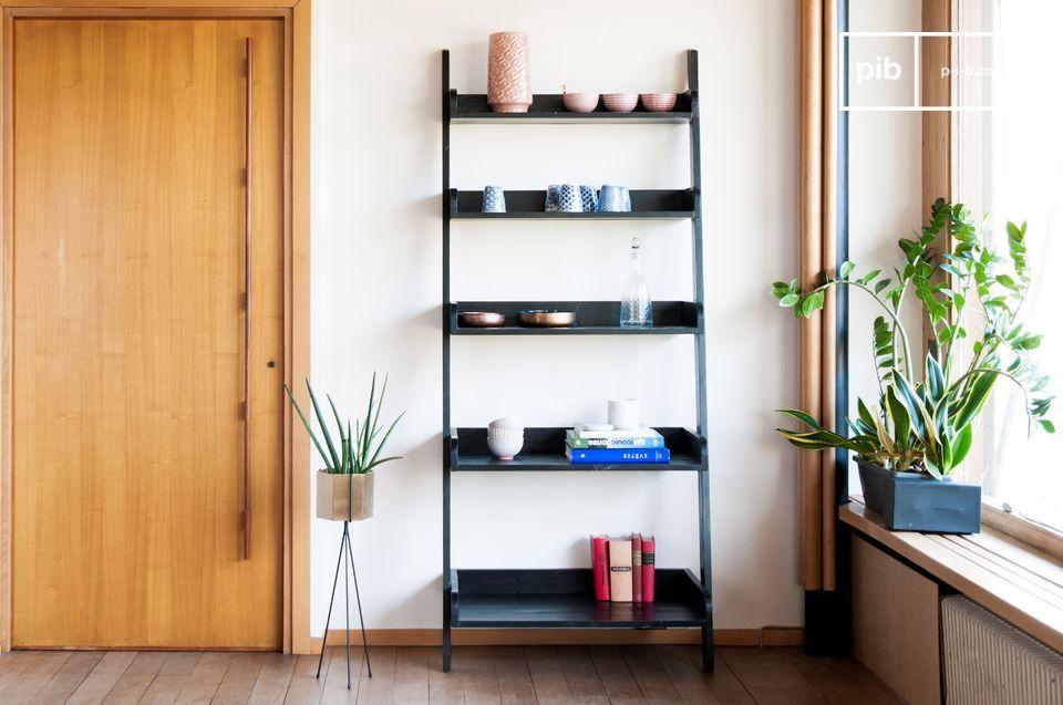 El encanto de la madera estructurada para un gran volumen de almacenamiento