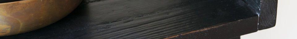 Descriptivo Materiales  Librería de madera negra a gran escala