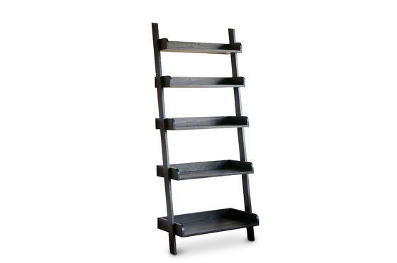 Librería de madera negra a gran escala Clipped