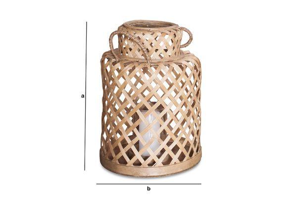 Dimensiones del producto Linterna de bambú Saïgon