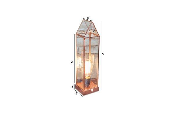 Dimensiones del producto Linterna de vidrio Emma