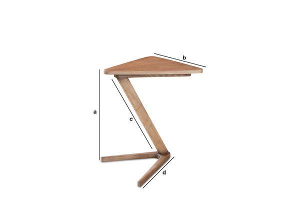 Dimensiones del producto Mesa auxiliar de madera Fleetwood