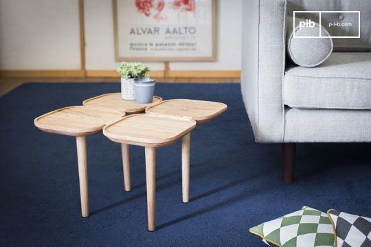 Mesa auxiliar de madera Kädri