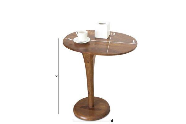 Dimensiones del producto Mesa auxiliar monopie Piwy