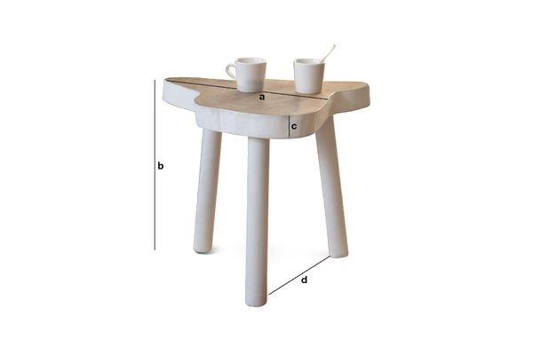 Dimensiones del producto Mesa auxiliar Nederland
