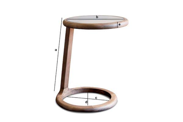 Dimensiones del producto Mesa auxiliar redonda Donhill