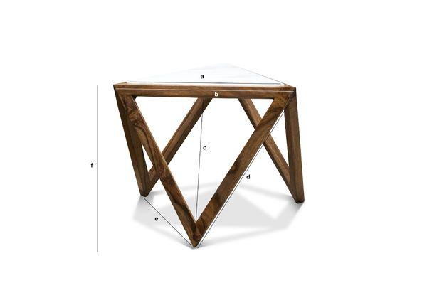 Dimensiones del producto Mesa auxiliar triangular Marmori