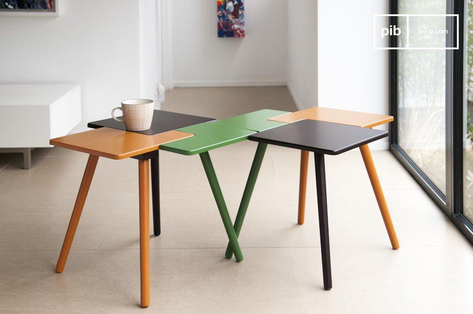 A pesar de que puede parecer que tiene tres elementos separados, la mesa es una sola