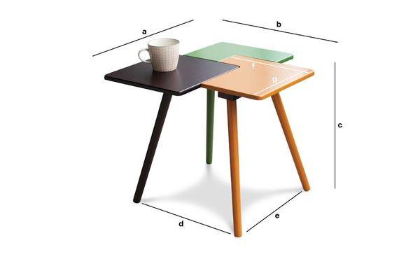 Dimensiones del producto Mesa auxiliar Tridy