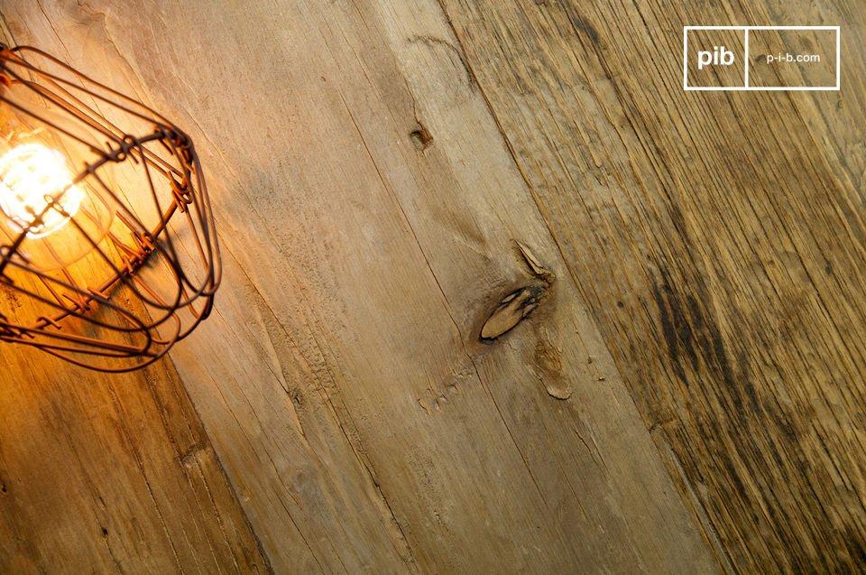 Grande con sello de la madera vieja