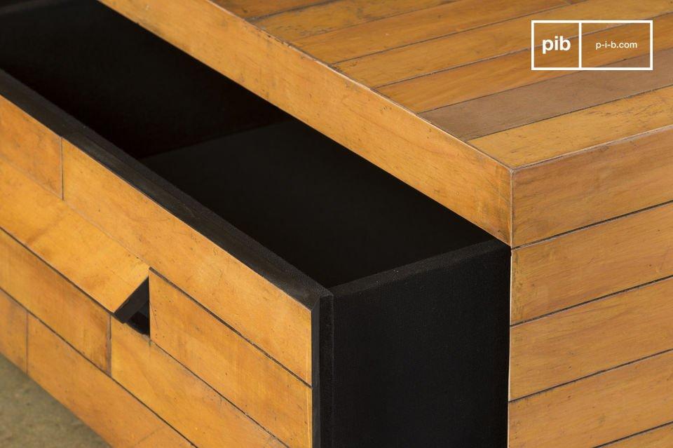 La exclusividad de un modelo realizado a partir de viejos suelos de madera