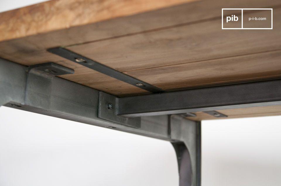 Hermosa mesa de madera de teca solida