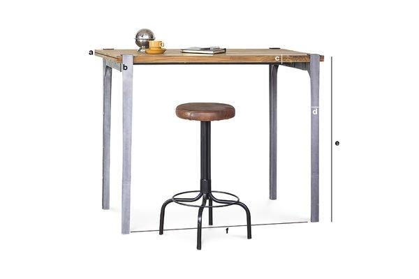 Dimensiones del producto Mesa barra Wellington