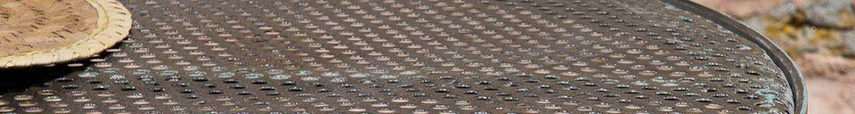 Descriptivo Materiales  Mesa bistro con tablero perforado