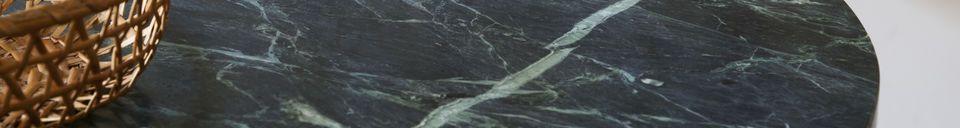 Descriptivo Materiales  Mesa bistro de mármol verde Lasby