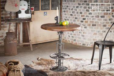 Mesa bistro de teca ajustable Salvage
