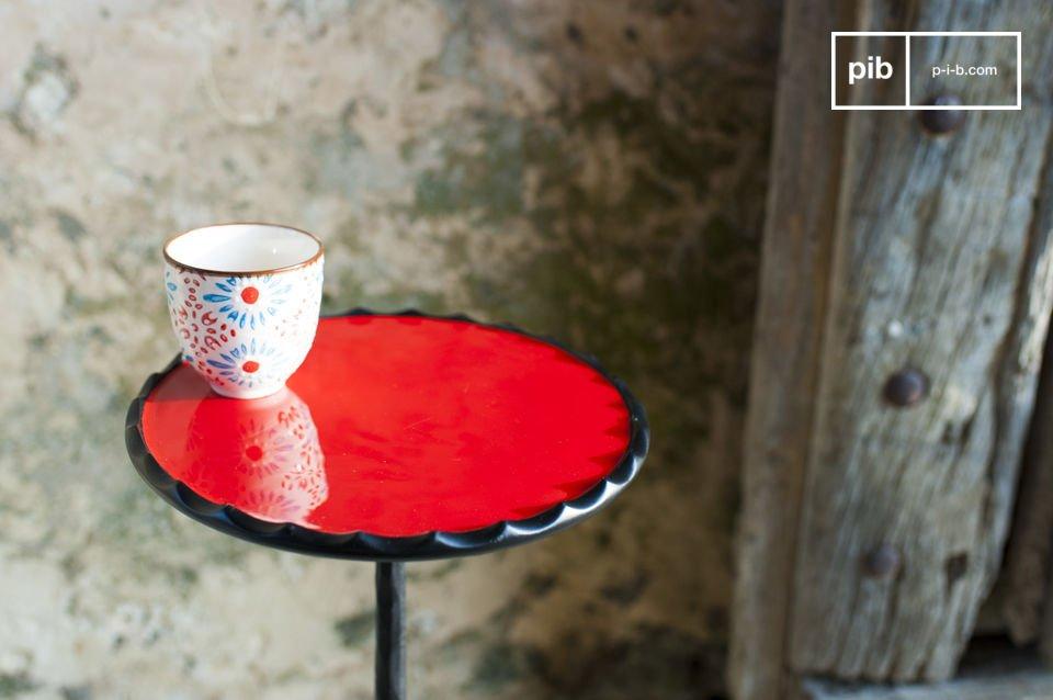 El encanto de un mueble redondo con hermosos colores