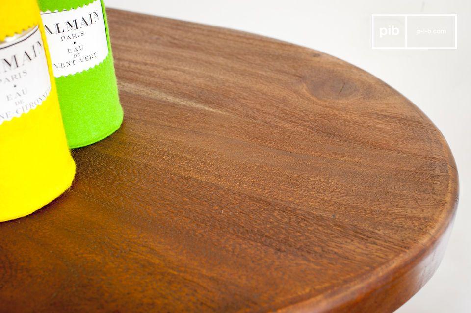 Todo redondeado, tapa de madera de teca con un espíritu art-deco