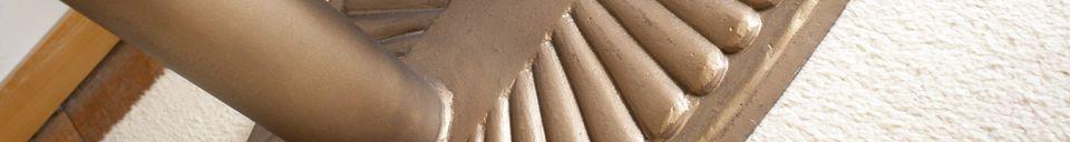 Descriptivo Materiales  Mesa consola oval Old Washington