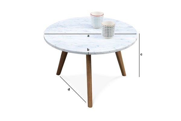 Dimensiones del producto Mesa de centro Briët
