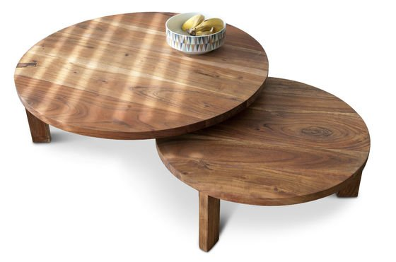 Mesa de centro con doble tablero Stockholm Clipped