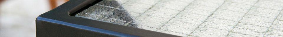 Descriptivo Materiales  Mesa de centro de cristal Anne-Lise