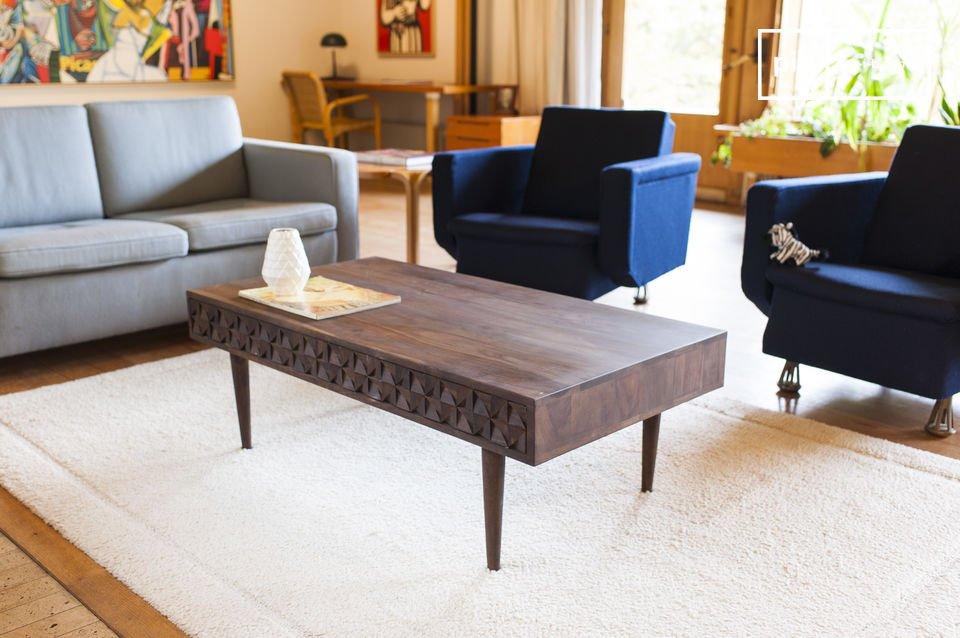 Mesa de centro de madera Balkis