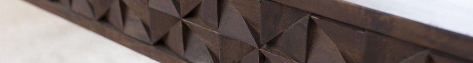 Descriptivo Materiales  Mesa de centro de madera Balkis