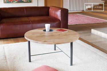 Mesa de centro de madera Bascole
