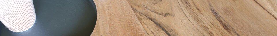 Descriptivo Materiales  Mesa de centro de madera Bascole
