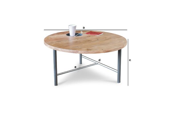 Dimensiones del producto Mesa de centro de madera Bascole