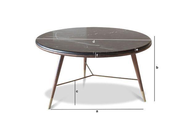 Dimensiones del producto Mesa de centro de mármol negro Sivärt