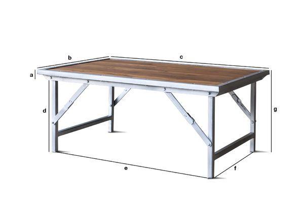 Dimensiones del producto Mesa de centro de teca Bollène