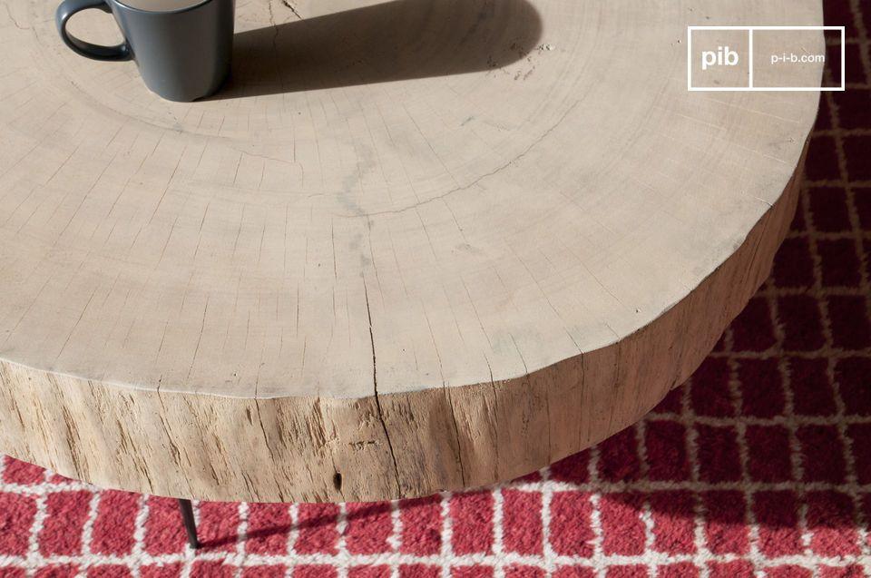 Una mesa de centro orgánica y perfectamente singular