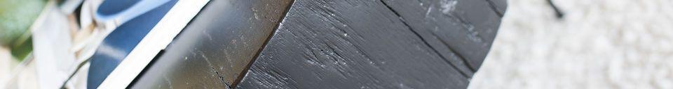 Descriptivo Materiales  Mesa de centro de tronco de árbol Luka negro