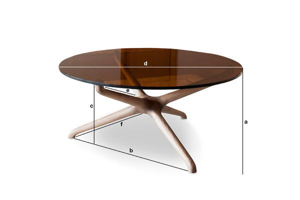 Dimensiones del producto Mesa de centro de vidrio Nodern